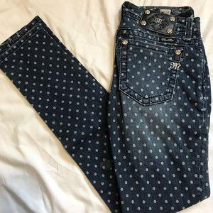 Miss Me Skinny Jeans Polka Dot 28